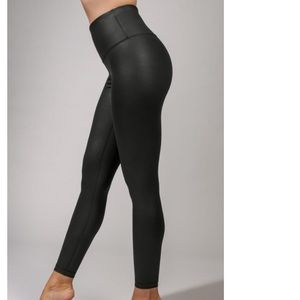 NWT High Waist Faux Leather 7/8 Ankle Legging